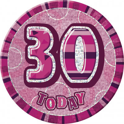 0 th BIRTHDAY 30 Today Prism Age Birthday  Badges -