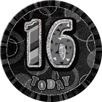 16TH  BIRTHDAY 16 Today Prism Age Birthday  Badges -