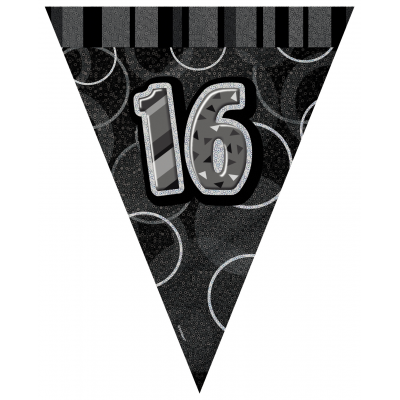 16TH  BIRTHDAY Prism Pennant  Banner