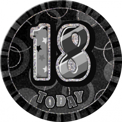 18TH  BIRTHDAY 16 Today Prism Age Birthday  Badges