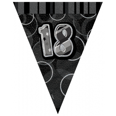 18TH  BIRTHDAY Prism Pennant  Banner