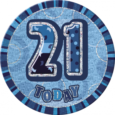21st BIRTHDAY 21 Today Prism Age Birthday  Badges -