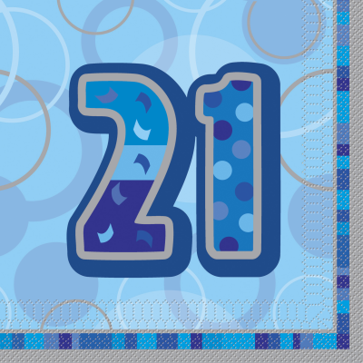 21st BIRTHDAY16 CT - Luncheon Napkins - Pack of 16