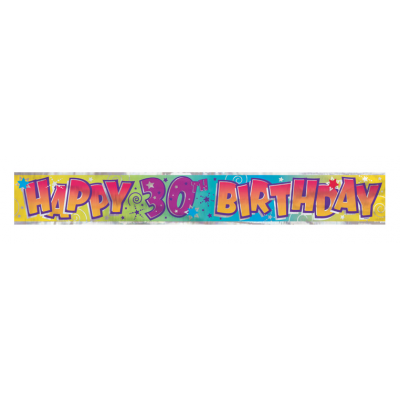 30th birthday Foil Banner