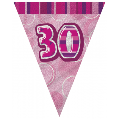 30th BIRTHDAY Prism Pennant  Banner -