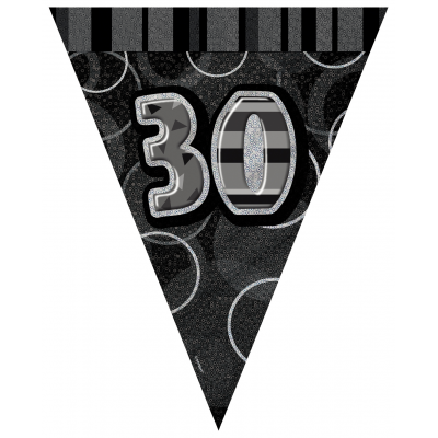 30th BIRTHDAY Prism Pennant  Banner