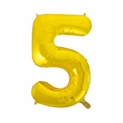 5 NUMERAL Gold colour FOIL BALLOON 34""