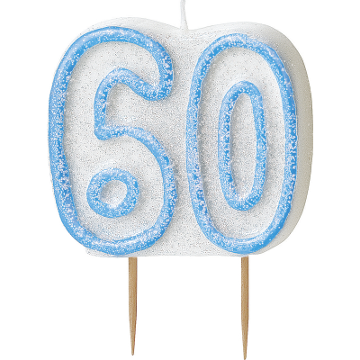 60th BIRTHDAY Numeral Age Birthday Candles