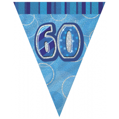 60th BIRTHDAY Prism Pennant  Banner