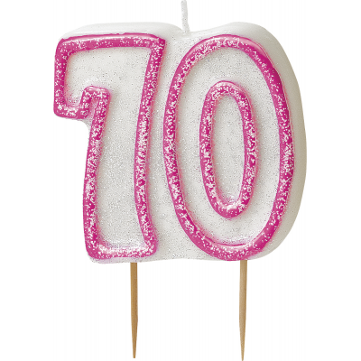70th BIRTHDAY Numeral Age Birthday Candles
