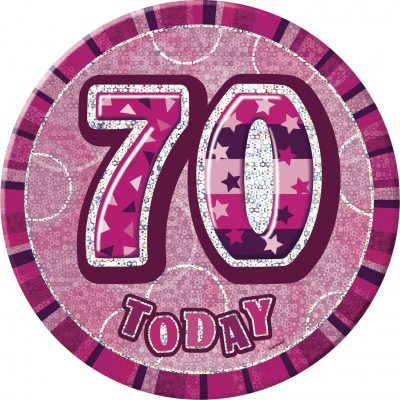 70th BIRTHDAY70 Today Prism Age Birthday  Badges