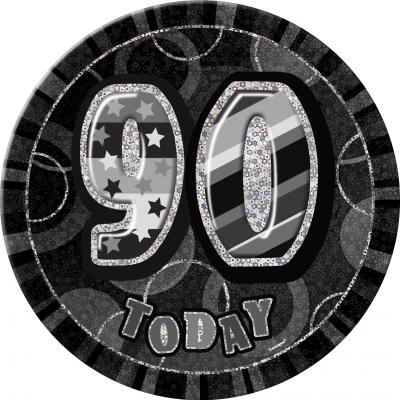 90th BIRTHDAY 90 Today Prism Age Birthday  Badges