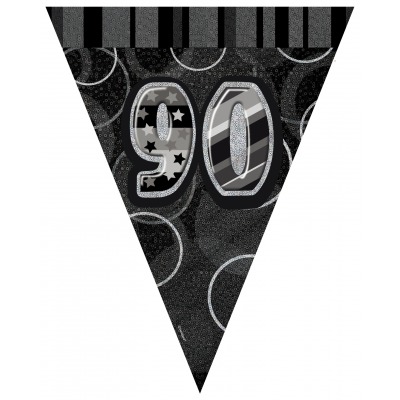 90th BIRTHDAY Prism Pennant  Banner