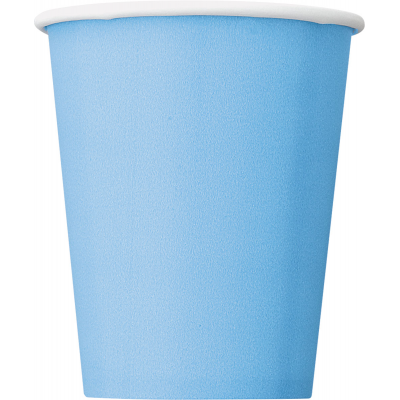 BABY BLUE  9 OZ. CUPS - Pack of 8