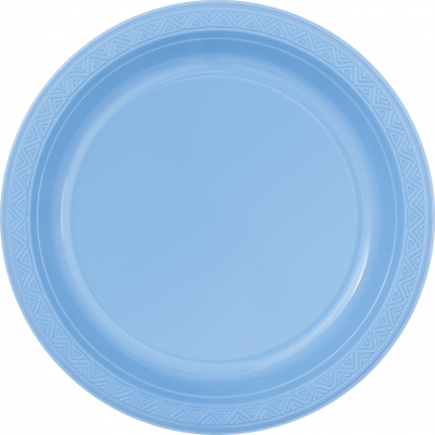 "baby blue   9"" PLASTIC PLATES   - Pack of 8"