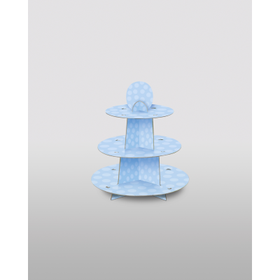 BABY BLUE CUP CAKE STAND