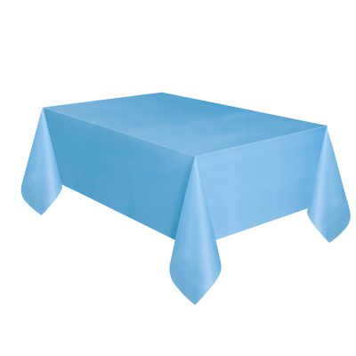 "baby blue  PLASTIC TABLECOVERS 54"" x 108"""