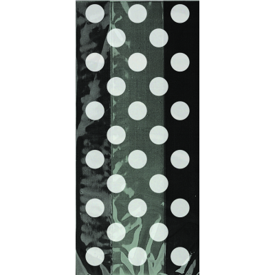 "Black Polka Dots  Cello Bags 11""H × 5""H - Pack of 20"