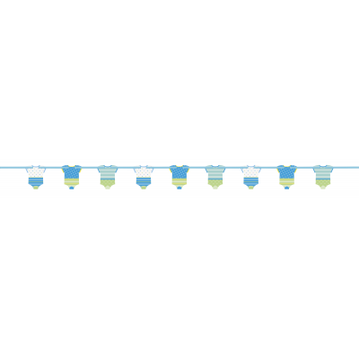 BLUE DOTS BABY SHOWER CUT OUT BANNER