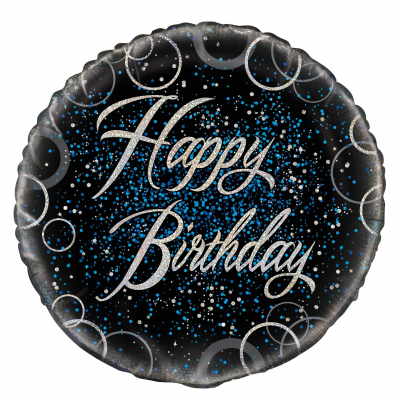 "Blue Happy Birthday 18"" Prism Foil Balloon"
