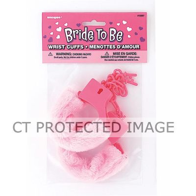 Bride To Be Wrist Cuffs Fur