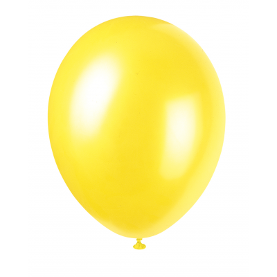 "CAJUN YELLOW Pearlised balloons 12"" - Pack of 8"
