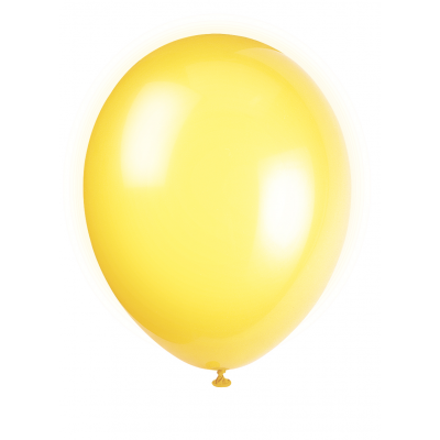 "CAJUN YELLOW Solid colour Pearlised Premium Balloons 12"" - Pack of 50"