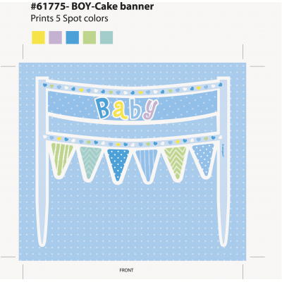 CAKE BANNER BLUE DOTS BABY SHOWER
