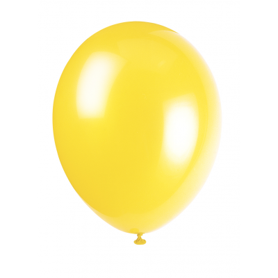 "CANARY YELLOW Premium Balloons 12"" - pack of 50"