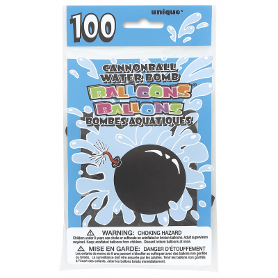 CANNONBALL WATER BOMB BALLOON - Pack of 100