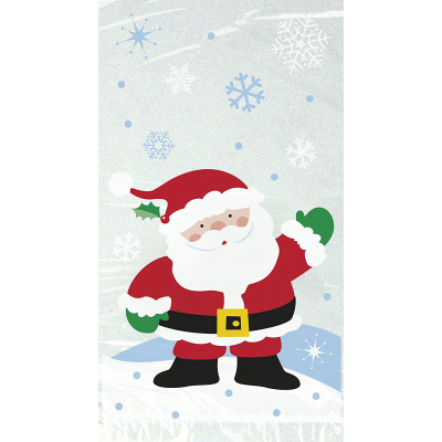Cellophane Snowflake Santa Christmas Party Bags - Pack of 20