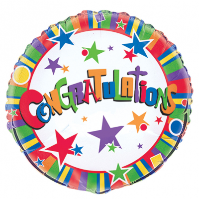 "CONGRATULATIONS TWINKLE 18"" FOIL BALLOON"