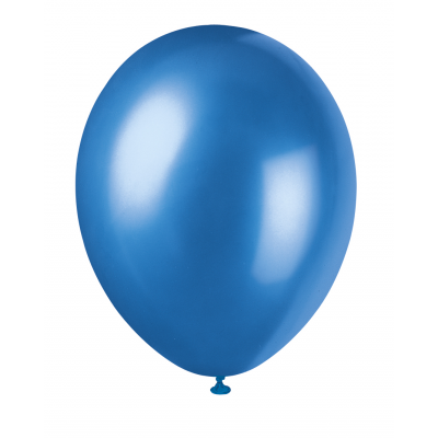 "COSMIC BLUE Pearlised balloons 12"" - Pack of 8"