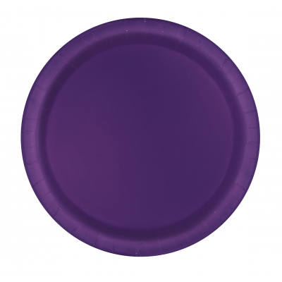 "DEEP PURPLE  7"" ROUND paper PLATES - Pack of 20"