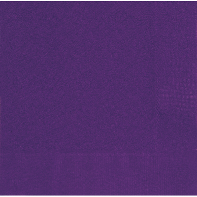 DEEP PURPLE LUNCHEON NAPKINS - Pack of 50