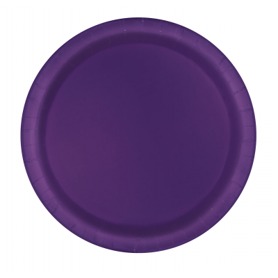 "DEEP PURPLE  ROUND paper PLATES 9"" - Pack of 8"