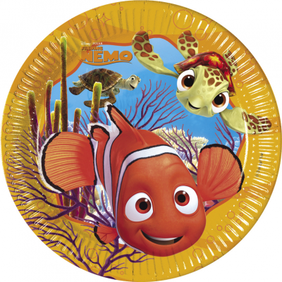 DISNEY FINDING NEMO Paper Plates 23cm - Pack of 8