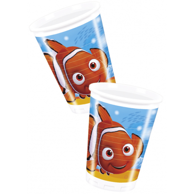 DISNEY FINDING NEMO Plastic cups  200ml- Pack of 8