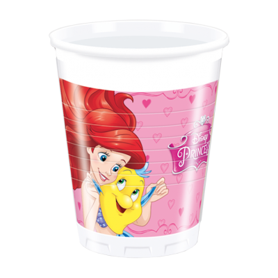 Disney princes Party Plastic Cups - Pack of 8
