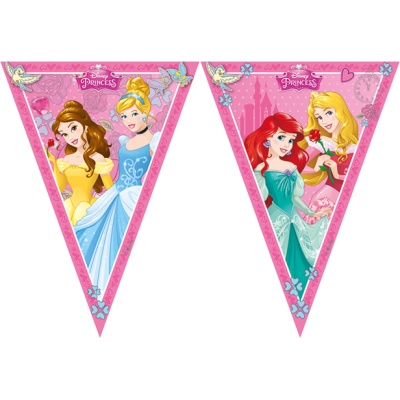 Disney Princes Party Triangle Flag Banner