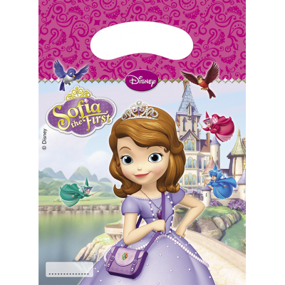 DISNEY SOFIA THE FIRST Party Bags - Pack of 6