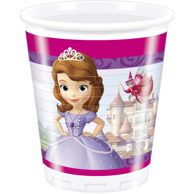 DISNEY SOFIA THE FIRST  Plastic cups  200ml- Pack of 8