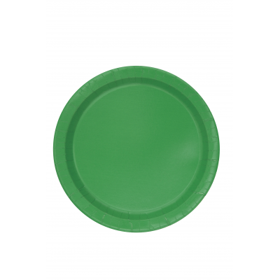 "EMERALD GREEN Paper Tableware-7"" ROUND PLATES - Pack of 20"