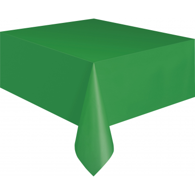 "EMERALD GREEN PLASTIC TABLECOVERS 54"" x 108"""