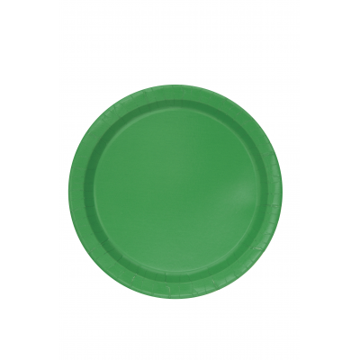 "EMERALD GREEN  ROUND paper PLATES 9"" - Pack of 16"