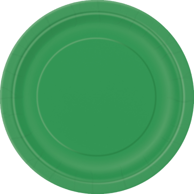 "EMERALD GREEN ROUND paper PLATES 9"" - Pack of 8"