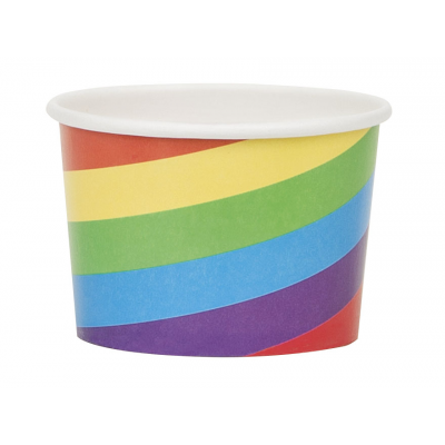 ENTERTAINING ACCESSORIES RAINBOW  STRIPE  SNACK  CUPS - PACK OF 8