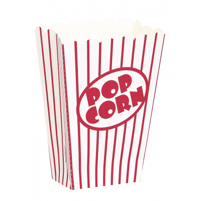 ENTERTAINING ACCESSORIES SMALL POPCORN  BOXES - PACK OF 8