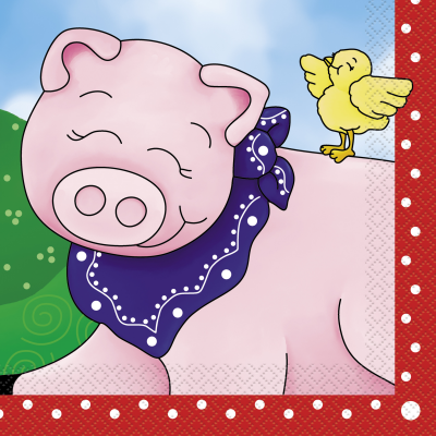 Farm Friends LUNCHEON NAPKINS - Pack of 16