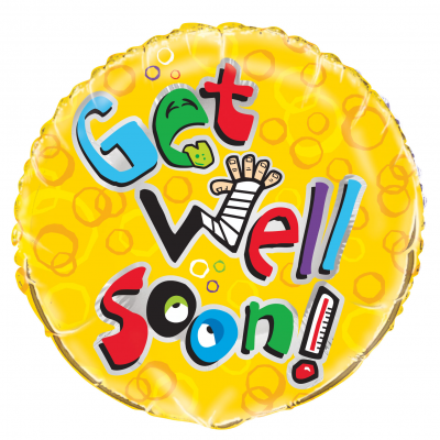 "GET WELL HUMOR 18"" FOIL BALLOON"